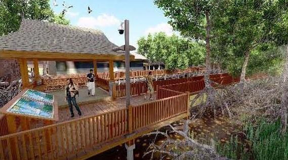 ก่อสร้างเส้นทางธรรมชาติป่าโกงกาง
